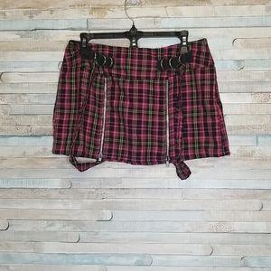 Lip Service Pink Plaid Tartan Mini Skirt Sz M